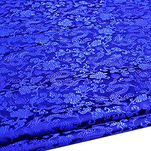 MUYUNXI Tela De Raso Forro De Tela para Vestidos De Novias Fundas Artesanas Vestidos Blusas Ropa Interior 75 Cm De Ancho Vendido por Metro(Color:Azul Real)