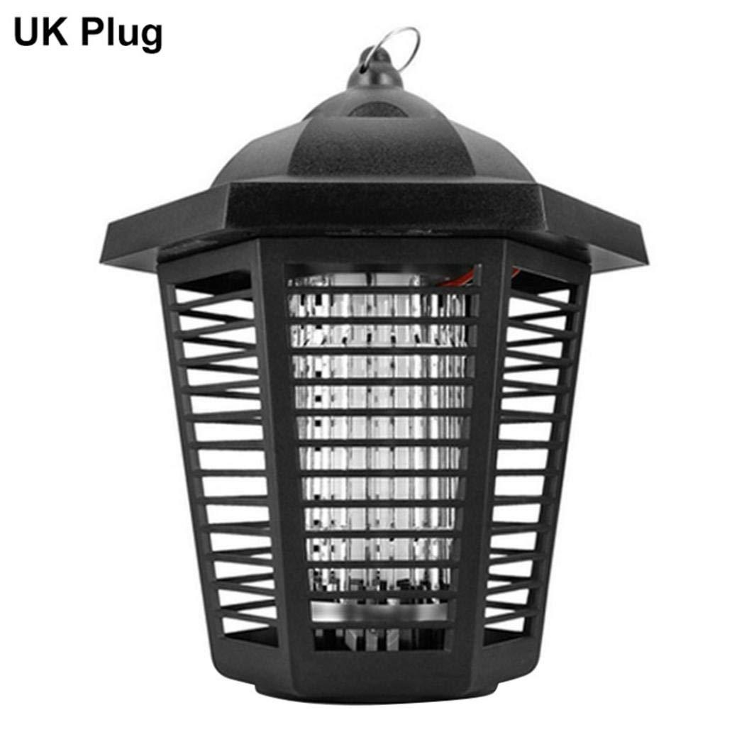 Misszhang-US Electric Safe Photocatalytic Mosquito Killer Lamp LED UV Insect Trap Night Light - BlackUK Plug