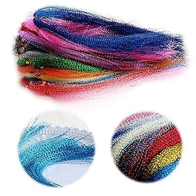 Dairyshop 100Pcs/Bag Crystal Flash Fly Tying Material Fishing Lure Tying Making DIY Craft by Dairyshop