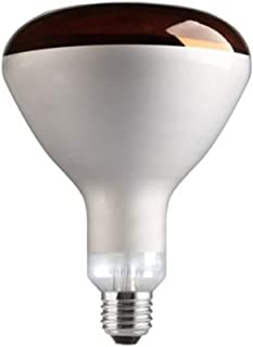 Lámpara infrarrojos cúpula roja E27 125x180mm Tungsram (250 W)