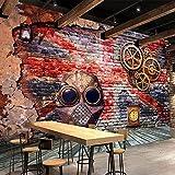 Fotomurales Papel Pintado Tejido No Tejido Decoración De Pared Decorativos Murales Moderna De Diseno Fotográfico Nostalgia Retro 3D Estilo Europeo Graffiti Art Bar 400Cm X 280Cm