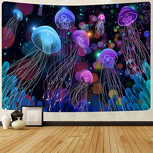 Flor abstracta tapiz calabaza linterna cielo nocturno arte colgante de pared fondo tela sala de estar dormitorio decoración a10 73x95cm