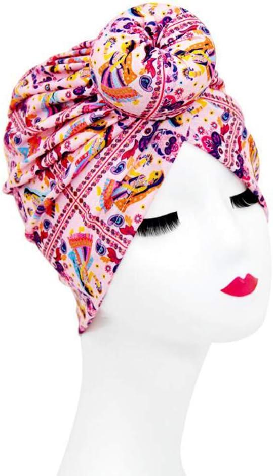 TININNA Femmes Africain Bonnet Turban T/ête Wrap Fleur Turban Noeud Headwrap Pr/é-Nou/é Bonnet Turban Chapeaux Head Band Cravate #10