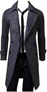 L&S(エル&エス) メルトンコート メンズ チェスターコート ラシャコート ビジネス ロングコート 通勤コート ステンカラーコート 紳士服 細身 LS1036