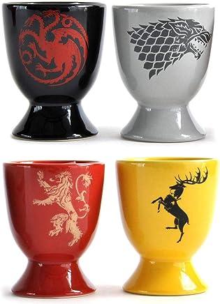 Preisvergleich für Game of Thrones Häuserwappen Eierbecher im 4er Set - Eierhalter