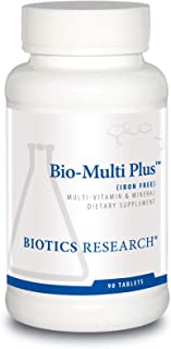 Biotics Research Bio Multi Plus Iron Free Multivitamin, Chelated Minerals, Iron Free, Emulsified Fat Soluble Vitamins, Hig...