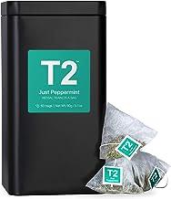 T2 Tea Just Peppermint Herbal Tea in Tea Caddy 60 Teabags, 1 x 60 Count