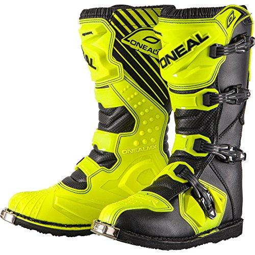 O'NEAL | Botas de Motocross | Enduro | Paneles de plástico inyectado, Hebillas fáciles de Ajustar, Malla de Aire Interior | Bota de Jinete EU Neon-Amarilla | Neon-Amarilla | Talla 44/10,5