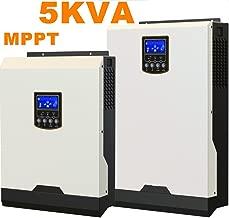 Inversor Solar 5Kva 4000W inversor de la rejilla 48V a 220V 60A MPPT Inversor de onda sinusoidal pura inversor híbrido 60A cargador de CA [Clase de Eficiencia Energética 90% -93%]