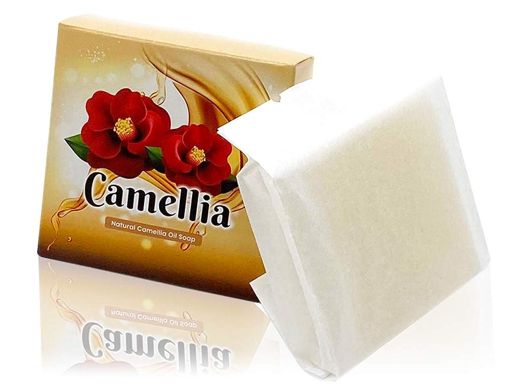 座る式対立【Amazon限定】つばき油 無添加洗顔ソープ Natural Camellia Oil Soap 【にきび対策?毛穴?黒ずみ?美白?保湿】石鹸一筋18年 日本製