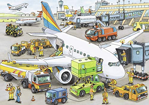Ravensburger Busy Airport - 35 Piece Jigsaw Puzzle for Kids
