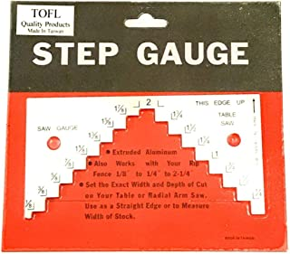 TOFL Table Saw Depth-Height Gauge | Step Depth and Height Gauge Tool for Woodworking Projects | Helps Make Your Saw Set Up Fast and Easy | Get Accurate Cuts