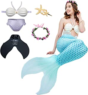 Mermaid Princess Swimsuit, Adult Mermaid Tail Swimsuit, Beach Split Bikini, Mermaid Tail Costume, Suitable for Beach/Pool/Party