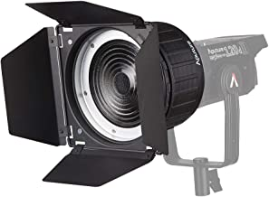 Aputure Fresnel 2X Lens Mount with Barn Door Honeycomb Grid and 4 Color Filters and Pergear Soft Diffuser for Aputure 120D Mark 2 Aputure 300D Aputure 120D and Other Bowen-S Mount Continuous Lights