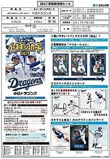Japan Import EPOCH baseball card 2017 Chunichi Dragons [BOX]