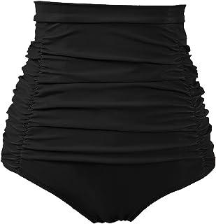 5991388895e8 COCOPEAR Women's Ruched High Waisted Bikini Bottom Retro Vintage Swim Short  Tankinis ...