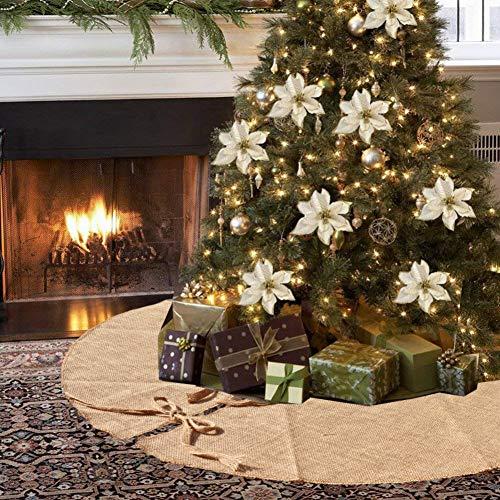 Amajoy Christmas Burlap Tree Falda 90 cm 35 Pulgadas