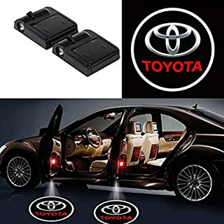 Side Door Panel Courtesy Warning Light Lamp with toyota logo Projector Ghost Shadow Welcome Lamp toyota Logo Light Courtesy Step Lights Ground Lamp Replacement For Toyota (2 Pack)