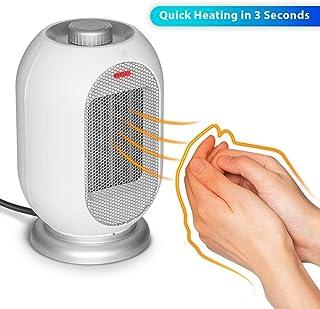 YUHT Calefactor Cerámico Calentador de Espacio para La Oficina Y El Hogar del Ventilador Calefactor PTC De Cerámica Calentador Portátil De Escritorio con El Ventilador De Vuelco