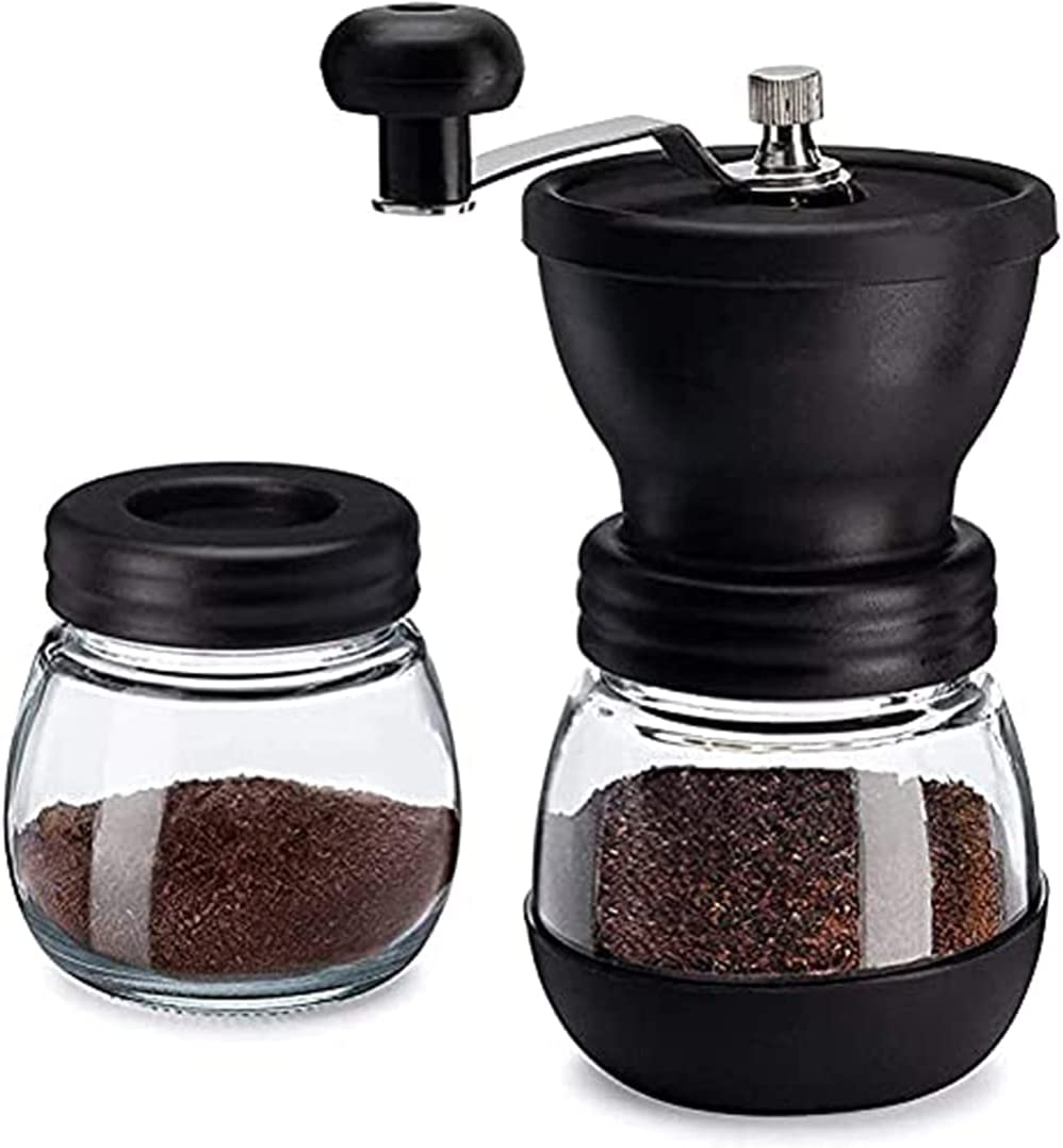 Manual Max 65% OFF Coffee Bean Directly managed store Grinder with Ceramic Mill Gla Burr 2 Conical