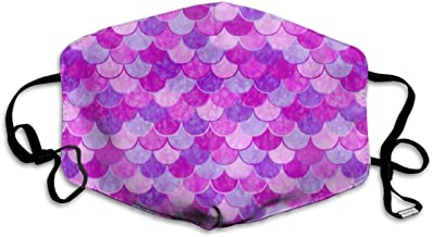 Pink Mermaid Scale Allergy & Flu Mask - Comfortable, Washable Protection from Dust, Pollen, Allergens, Cold & Flu Germs Antimicrobial, Asthma Mask