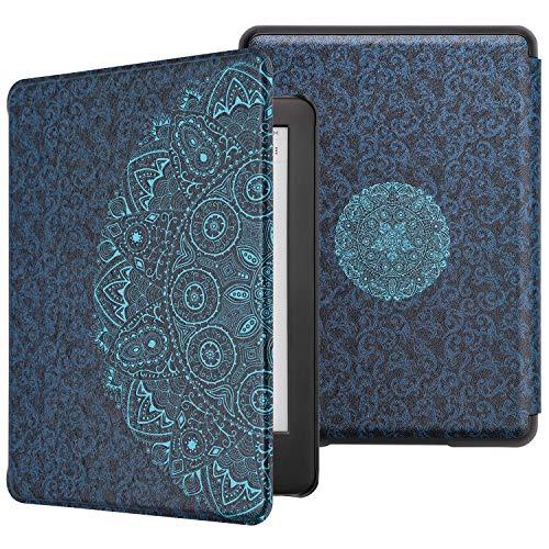 WALNEW Kindle Hülle 10. Generation-2019, PU Lederhülle Schutzhülle Tasche für Der Neue Amazon Kindle 2019(Model NO. J9G29R) eReader mit Automatischer Aufwach/Ruhe-Funktion