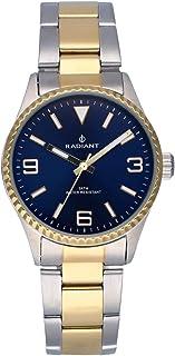 Reloj analógico para Mujer de Radiant. Colección Mulan. Reloj Bicolor Plateado y Dorado con Brazalete, Esfera Azul y Bisel...