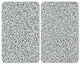 Wenko Coprifuochi Vetro Universale Granite - Set 2 Pezzi, per Tutti i Tipi di Piani di Cot...