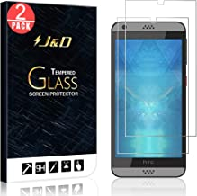 J&D Compatible for 2-Pack Desire 555/Desire 530/Desire 550/Desire 630 Glass Screen Protector, [Tempered Glass] [Not Full Coverage] Ballistic Glass Screen Protector for HTC Desire 555 Screen Protector