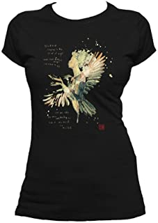 Beatles David Mack Blackbird Official Women's T-Shirt (Black)