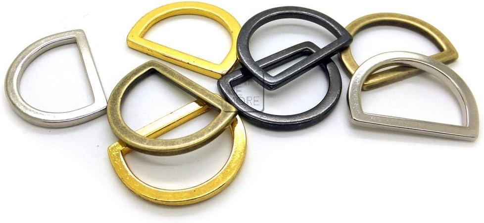 Solid Brass Hardware D-Ring Buckle Saddle Case Bag Belt Leathercraft 13mm-45mm