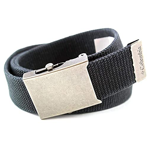 5f007e8f4b58 Columbia Men s Military Web Belt - Casual for Jeans Adjustable One Size  Cotton Strap and Metal