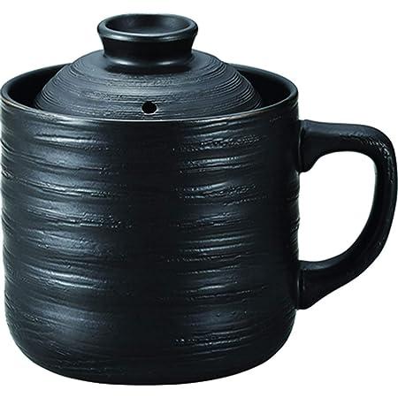 カクセー 電子レンジ調理器 炊飯マグ 1合炊き 楽炊御膳 ブラック 約幅14.5×奥行11×高さ13.3cm 持ち手付 おかゆ・炊き込みご飯も炊ける T-01B