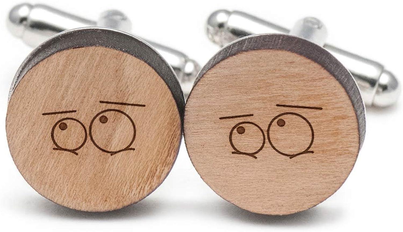 Shy Eyes Cufflinks, Wood Cufflinks Hand Made in the USA