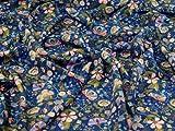 Liberty London Kensington Seiden-Kreppstoff, dunkelblau,
