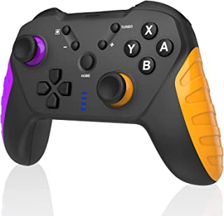 最新型 Switch コントローラー 無線 プロコン HD振動 小型6軸 スイッチ コントローラー TURBO連射機能付き ジャイロセンサー搭載 Bluetooth接続 ニンテンドースイッチ 対応 プロコントローラー