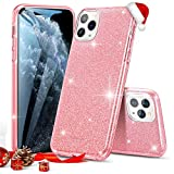 ESR Glitter Case Compatible for iPhone 11 Pro Max Case, Glitter Sparkle Bling Case [Three Layer] for Women [Supports Wireless Charging] for iPhone 11 Pro Max (2019 Release), Rose Gold