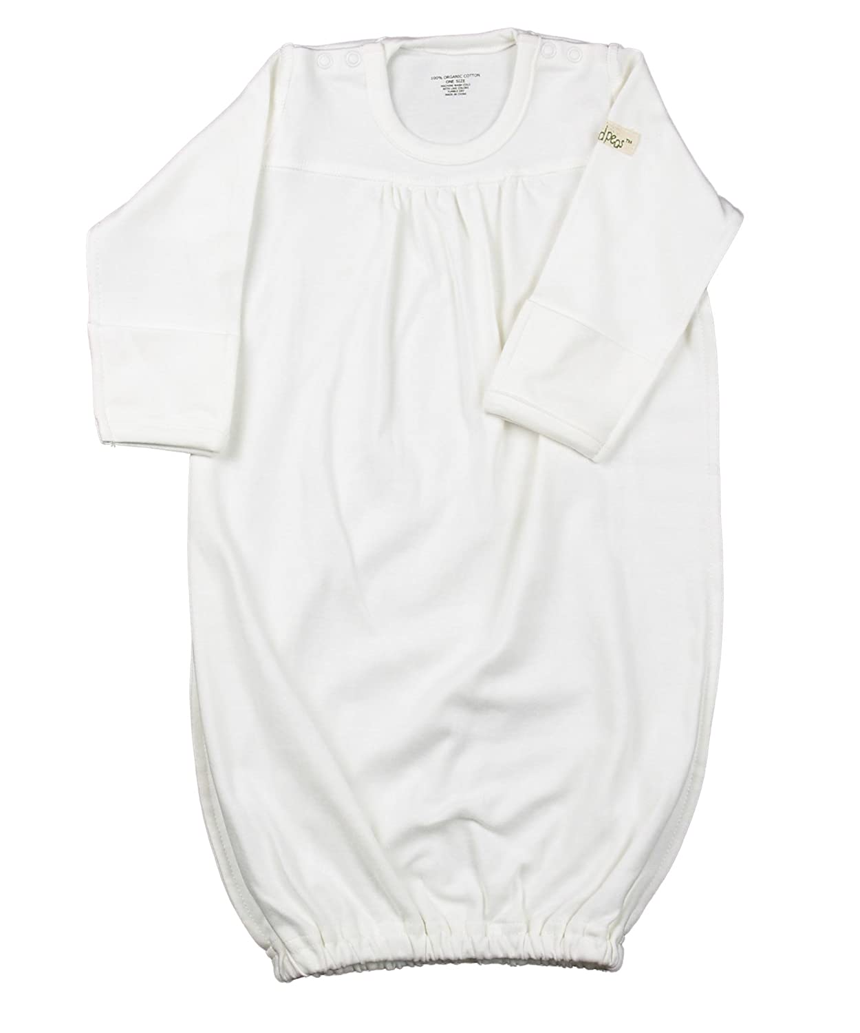 little world peas Baby Gown One Size White