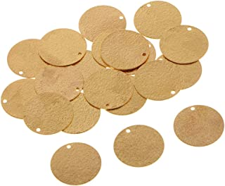 Baoblaze 20x Copper Flat Round Blank Charm Tag Pendant Engrave Stamping Disc 10mm