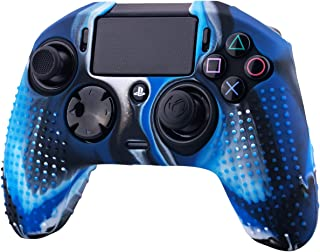 YoRHa Studded Dots Silicone Rubber Gel Customizing Cover for NACON Revolution PRO PS4 controller [Origin & V2] x 1(Camouflage Blue)