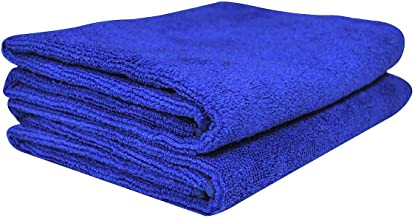 Softspun Microfiber Car Cleaning,Detailing & Polishing Cloth - 40X60 Cms - Blue (2)