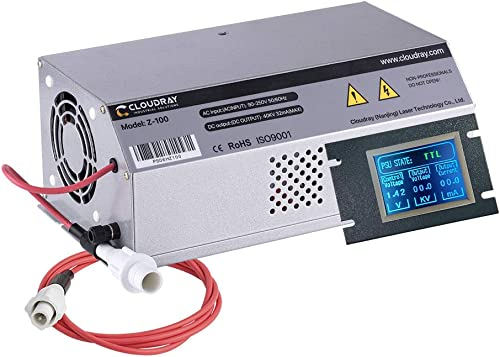 lowest Cloudray wholesale Power Supply W/Monitor 100-120W AC90-250V LCD Screen DIY Replace Part for GlassTube & CO2 Laser 2021 Engraver online sale