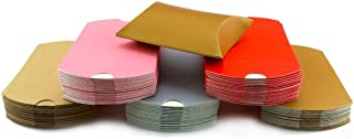 Fyess 100 PCS Kraft Pillow Shape Candy Box for Christmas,Wedding Party Favor