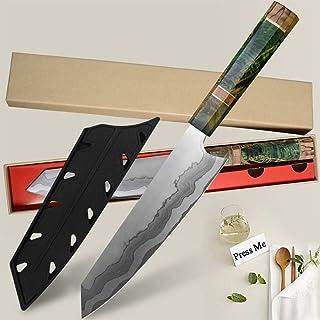 67 couches Nakiri Chef Couteau japonais acier de Damas Couteau de chef Couteau de cuisine Damas solidifiée Bois Coffret Ca...