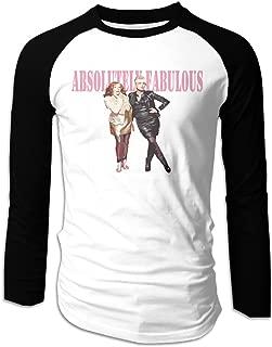 Creamfly Mens Absolutely Fabulous The Movie Long Sleeve Raglan Baseball Tshirt