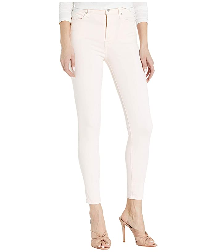 7 For All Mankind  High-Waist Ankle Skinny in Solid Pink (Solid Pink) Womens Jeans