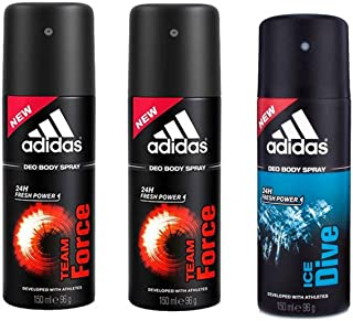 Adidas Team Force-2, Ice Dive-1 Deo Combo Pack - (Pack of 3)