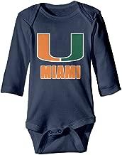 HYRONE University Of Miami Baby Bodysuit Long Sleeve Climbing Clothes Navy