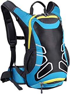 Dengyujiaasj Backpack, 15L Waterproofed Cycling Backpack, With Rain Cover MTB Bike Hydration Backpack, Ultralight Bicycle ...
