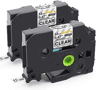 互換 透明 黒文字 Brother ブラザー ピータッチ TZ TZeテープ P-Touch TZe-131 2個セット ラミネートテープ 12mm 長さ8メートル